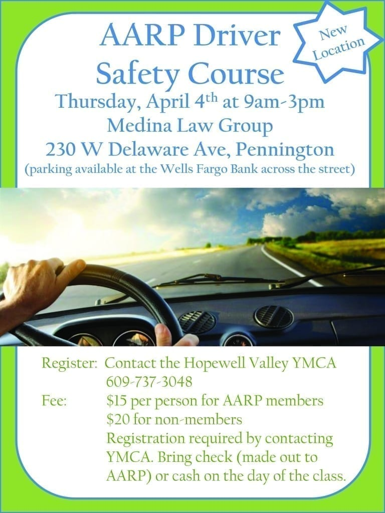 AARP Driver Safety Course @ Medina Law Group | Pennington | New Jersey | United States